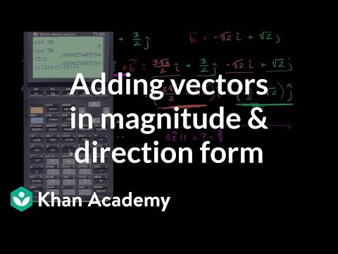 how to find magnitude and direction of 2 vectors