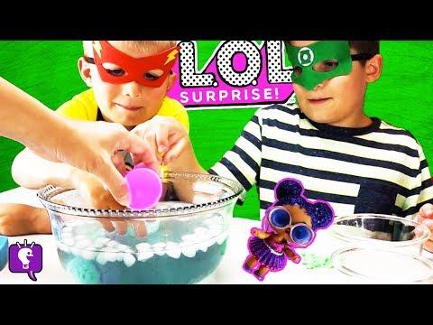 LOL COLOR CHANGE FIZZYS! Surprise Eggs with Hero HobbyKids (видео)