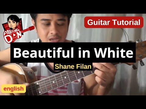 Beautiful in White chords (Westlife Shane Filan) guitar tutorial for beginners