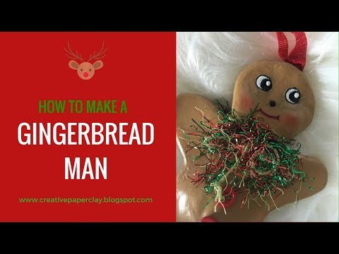 How to make Gingerbread Man Ornament with Creative Paperclay®