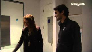 A tour through Federer's dressing room ! Downloaded from t3nnis.tv.