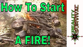 How To Start A Fire - Fire Starting Challenge By Robert Jeffery
