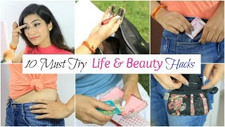 10 MUST Try LIFE & BEAUTY Hacks - College & School Girls | Anaysa