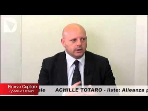 Il candidato a sindaco di Firenze Achille Totaro ospite di Firenze capitale-speciale elezioni, condotto da Elisabetta Matini.