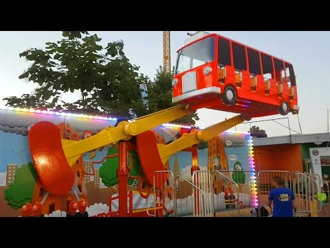 Download Outdoor playground for kids with flying bus. Funny video from KIDS TOYS CHANNEL HD Mp4 3GP Video and MP3