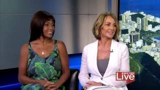 Olympic Gymnastics greats Nadia Comaneci & Dominique Dawes stop by to chat about their partnership with Tide PODS on