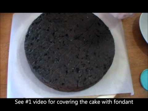 fondant suitcase cake - PLEASE SUBSCRIBE - This Tutorial shows you how to prepare a fruit cake before icing with fondant icing. Music is provided with permission: