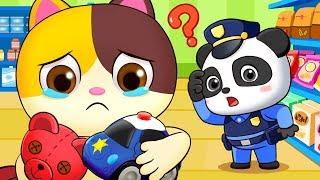Baby Kitten Got Lost in Supermarket   Police Cartoon   Play Safe Song   Nursery Rhymes   BabyBus