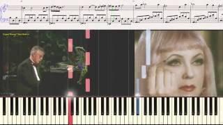 Театр - Раймонд Паулс (Ноты и Видеоурок для фортепиано)(лёгкий вариант) (piano cover)