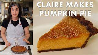 Claire Makes Brûléed Pumpkin Pie  From The Test Kitchen  Bon Appetit
