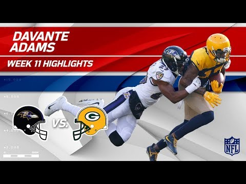Video: Davante Adams' 8 Catches & 126 Yards vs. Baltimore! | Ravens vs. Packers | Wk 11 Player HLs