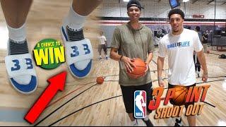 NBA 3 POINT CHALLENGE vs LiAngelo Ball for RARE Big Baller Brand SHOES!!