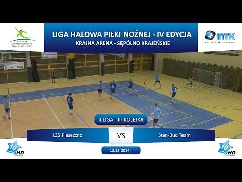 II Liga - III Kolejka: LZS Piaseczno - Stan-Bud Team 4:2, 13.12.2014 r.