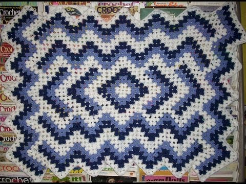 Drop in the Pond Pt 1; Seven-Row granny square
