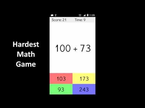 Video of Hardest Math Game Ever