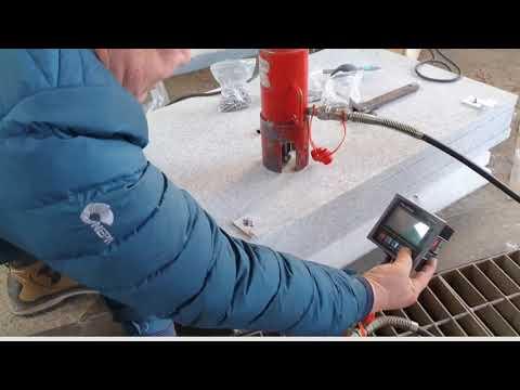 Portable undercut drill machine을 이용한 spring anchor 인발력 시험(Pull out test) - 대동에스앤티