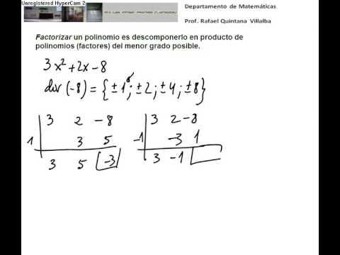 Vídeos Educativos.,Vídeos:Factorizar polinomios I