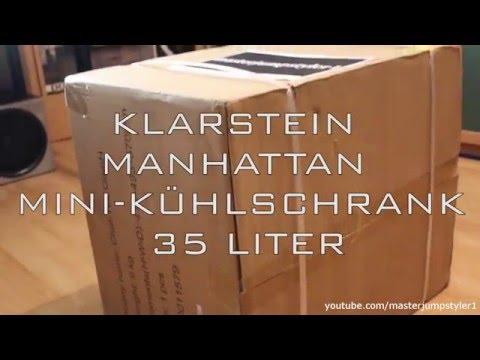 Unboxing // Review: Klarstein Manhattan Mini-Kühlschrank 35 Liter (schwarz/black)