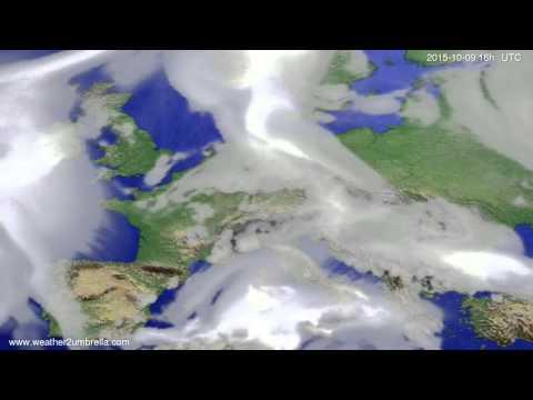 Cloud forecast Europe 2015-10-06