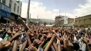 #2 Ethio Muslims continue their strong Demonstration at Anwar Mosque on Fri March- 1-2013