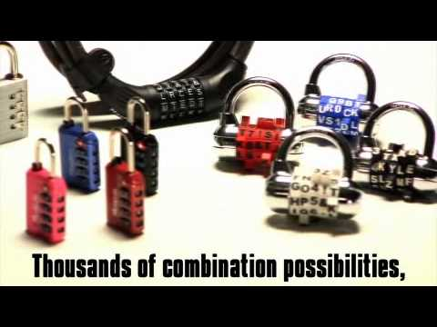 1534 Series Password Combo Lock: Use words for easy recall