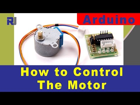 Control Stepper motor 28BYJ-48 with ULN2003 for Arduino