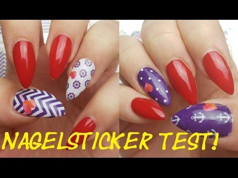 Neuartige Nail Wraps GEHT DAS WIRKLICH? Nagelsticker Nailart Test mit Sticker Gigant