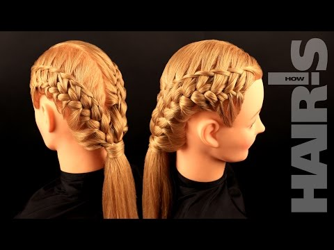 How to do an original decorative braided hairstyle
