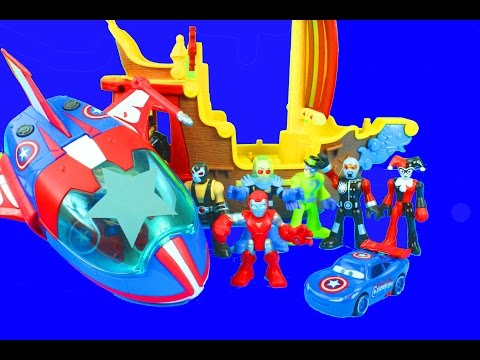 America - Just4fun290 presents Captain America Quinjet! Watch Captain America, Iron Man and Captain Car McQueen take on Bane, Riddler and Harley Quinn! Check out our other videos with playskool ...