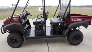7. SALE $9,499:  2016 / 2017  Kawasaki Mule 4010 Trans Dark Royal Red Overview and Review