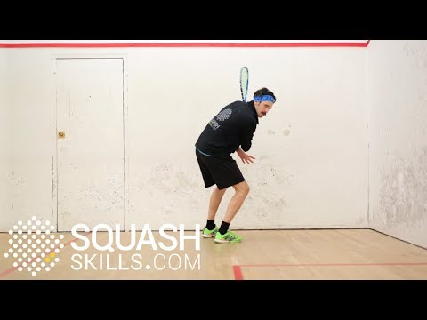 Squash tips: Backhand two footed plants with Jethro Binns