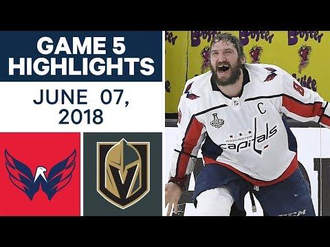 NHL Highlights | Capitals vs Golden Knights, Game 5 - June 7, 2018 (видео)