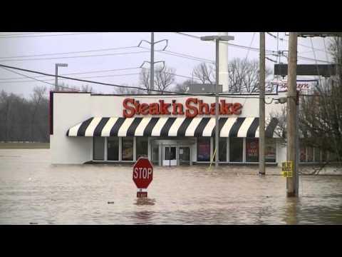 Valley Park Missouri - Record Flood, Highway 141 & 44 Underwater - 12/30/15