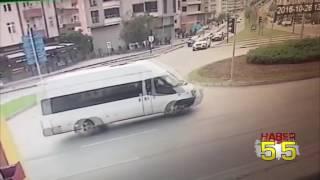 SAMSUN'DA KAZA ANI KAMERADA