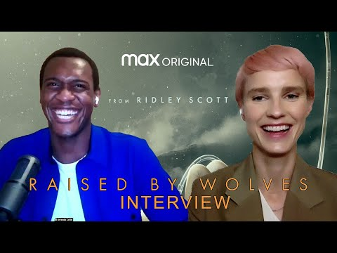 'Raised By Wolves' Amanda Collin & Abubakar Salim Exclusive Interview