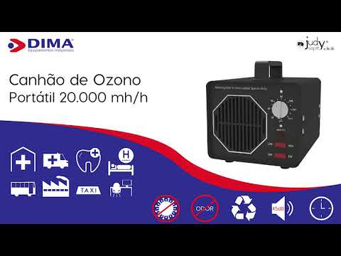 Canhão de Ozono 5.000 mg/h, 10.000 mg/h e 20.000 mg/h
