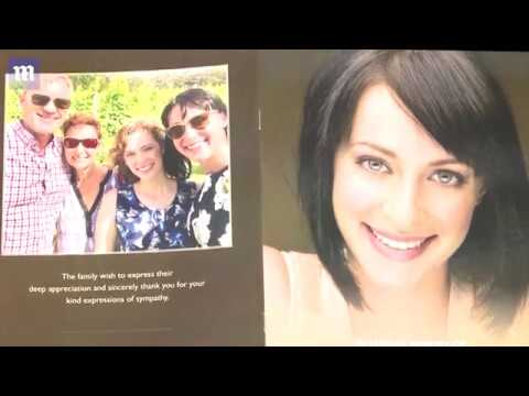 Jessica Falkholt at a heartbreaking funeral service  tragic car crash that killed her family