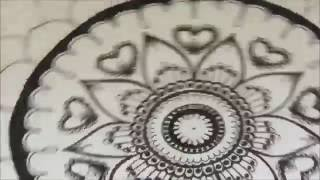 How to draw a mandala  #2 | Time Lapse