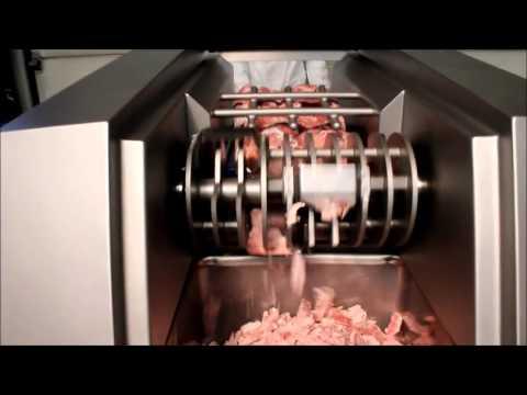 Grignoteuse bloc de viande congelé N&N FL440 WWW.TECHNOCARNE.COM