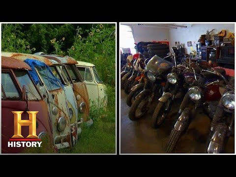 American Pickers: BIG COLLECTION of VW Buses and BSA Motorcycles (Season 3)   History