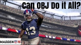 Madden 15: Odell Beckham Jr. Plays Every Position (Challenge) - YouTube