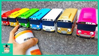 Video Tayo the Little Bus Change Learn Colors With Rainbow Paint Job, Nursery Rhymes Song | MariAndToys MP3, 3GP, MP4, WEBM, AVI, FLV Agustus 2018