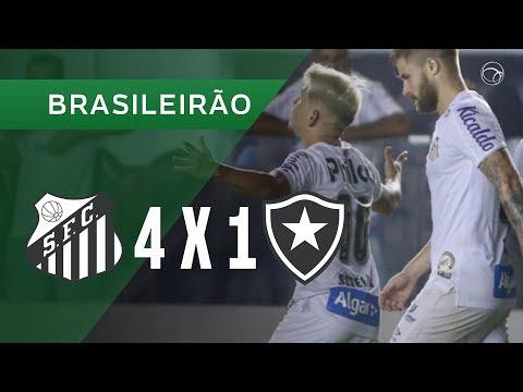 Santos 4-1 Botafogo (Campeonato Brasileiro 2019) (...