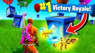 Using *ONLY* SUPPLY DROPS To WIN Fortnite Battle Royale!