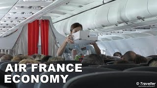 An Air France Flight Review (Trip Report) of our flight onboard an Air France Airbus A319 from Copenhagen Airport to Charles de Gaulle Airport in Paris. This video covers all stages of the flight from the arrival at Copenhagen Airport (CPH) where the viewer sees the Check-in area for our Air France flight and then is given a tour of Copenhagen Airport´s departure area as we make our way through the airport to our departure gate A20.Our Air France Economy Class flight to Charles de Gaulle Airport in Paris the begins boarding, and we follow the aircraft pushback process and then the taxiing out to our take-off runway and include the takeoff. Once in the air we show the viewer the Air France cabin, have a look at the Air France seats and legroom in Economy Class onboard an Air France A319, we look at the seat belts, The Air France inflight magazine, the Air France Inflight Duty Free Shopping magazine and the Air France onboard Safety Card for their Airbus A318 and Airbus A319.To our surprise on this short-haul Air France Economy Class flight to Paris, Charles de Gaulle Airport, we were all offered a complimentary Inflight Meal, actually an Inflight Snack and a complimentary Inflight Drink.We than begin our descent towards Paris through some very turbulent weather conditions and finally our Air France flight lands at Charles de Gaulle Airport in Paris. The viewer then follows our long but very interesting taxi through this huge French Airport, we are even like enough to see the Air France Concorde. We hope that you will enjoy this Air France Economy Class Flight Review of our flight onboard a Airbus A319 between Copenhagen Airport and Charles de Gaulle Airport in Paris. Air France is a member of the SkyTeam Alliance (Airline Alliance).OUR IMPRESSIONS:- The Air France cabin crew was friendly and professional from the start to end of the flight.- The complimentary inflight snack and drink was a positive surprise for a European short haul flight. This small gesture will en