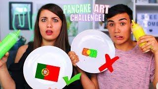 PANCAKE ART CHALLENGE ?!! Jonathan et Amandine