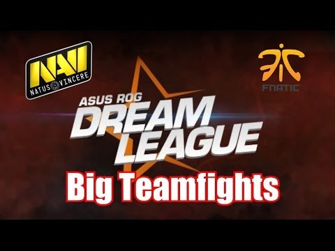 Big teamfights by Na´Vi vs Fnatic.eu | Dota 2 DreamLeague Highlights