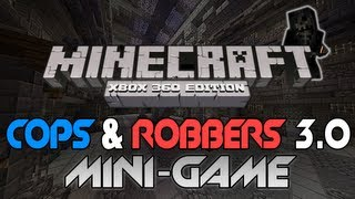 "Minecraft: Xbox 360 - ""Cops and Robbers 3.0"" W/ Download [PC Converted] (Mini-Game Review)"