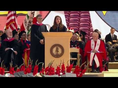 Bill and Melinda Gates giving commencement speech