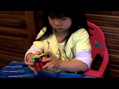 2-year-old Solves Rubik's Cube in 70 seconds!